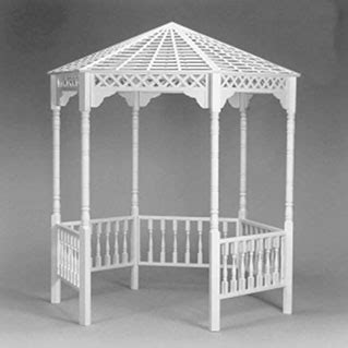 white gazebo arches