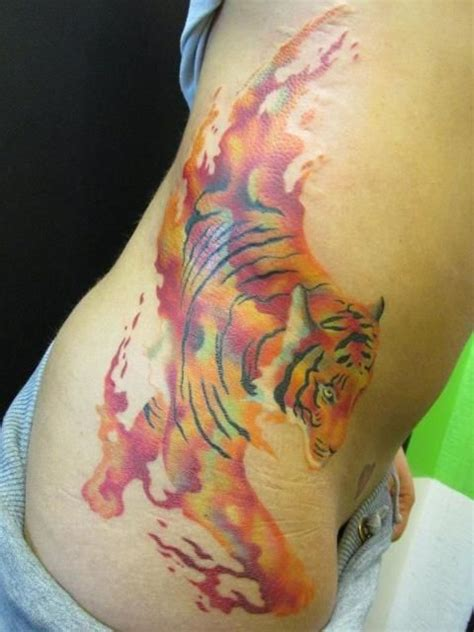watercolor tiger tattoo watercolor tiger i this i want it and i