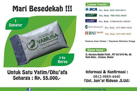 format sms banking bank bni syariah mari bersedekah