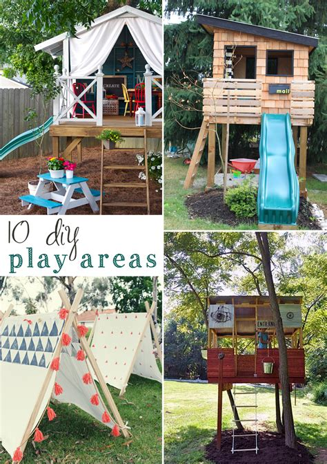 backyard playset ideas 10 diy outdoor playsets tag tibby