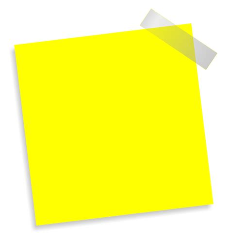 Transparent Craft Paper - paste note png transparent image pngpix