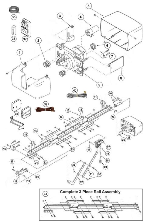 genie drive garage door opener wiring diagram