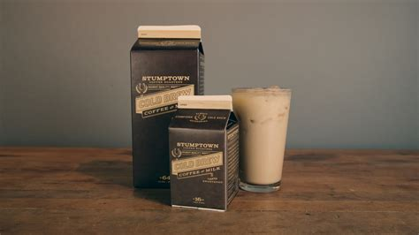 stumptown coffee roasters cold brew coffee with milk the dieline package design resource