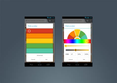 android selector a new colour picker on firefox for android mozilla ux