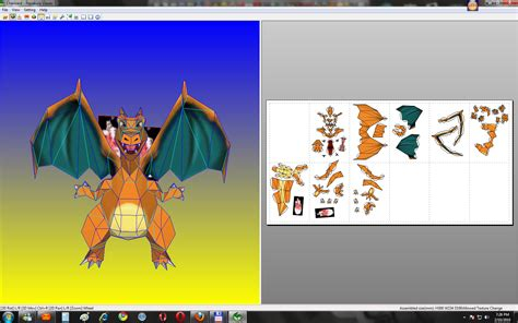How To Make A Paper Charizard - charizard papercraft done by sabi96papercraftbox on
