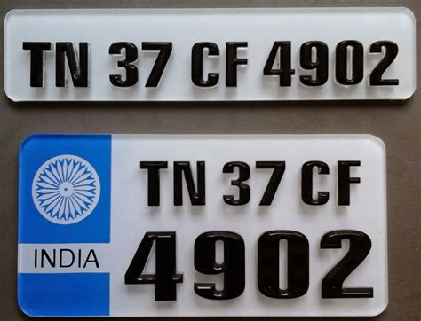 ind number plates coimbatore acrylic number plates laser