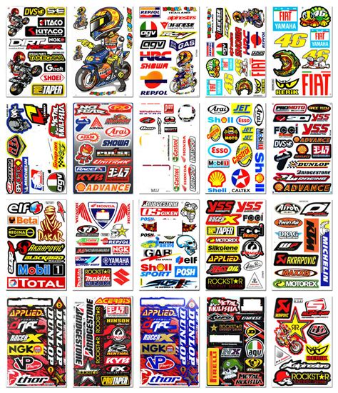 Motogp Sponsoren Aufkleber by 20x Motocross Race Rossi 46 Sticker Bike Arai Helmet Moto