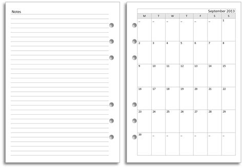 diary calendar template my all in one place new filofax a5 diary layout for