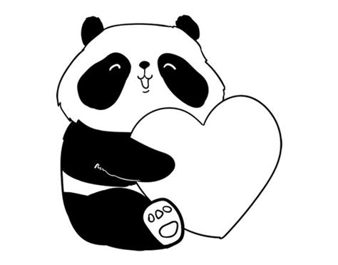 imagenes de ositos hipster dibujo de amor panda para colorear dibujos pinterest