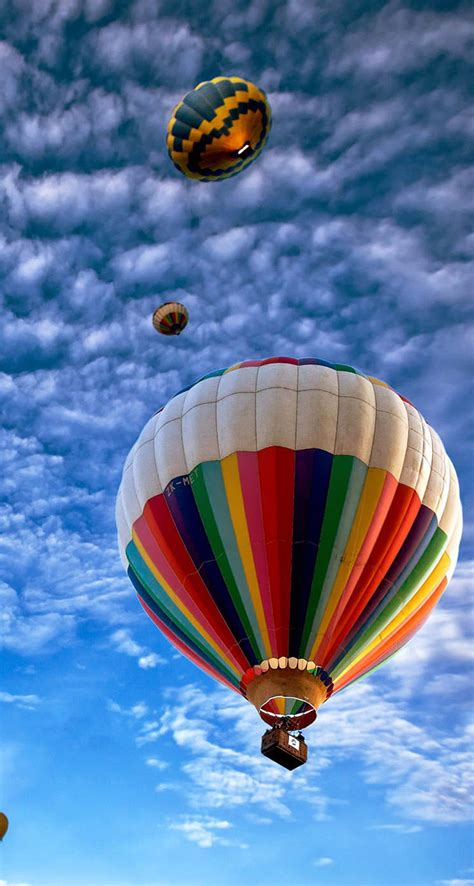 hot air balloons sky  iphone wallpapers