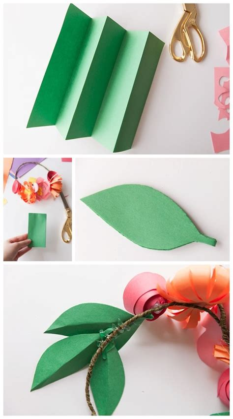 How To Make Crowns Out Of Construction Paper - the cutest paper flower crowns you did see w photo