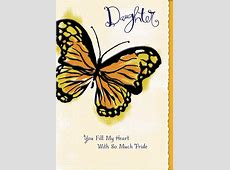 Butterfly Proud of You Mother's Day Card for Daughter ... Mothers Birthday Gift