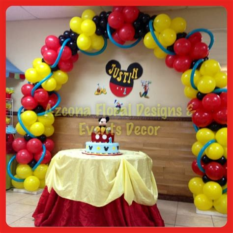 balloon decor mickey mouse theme mickey mouse birthday balloons arch balloons decor