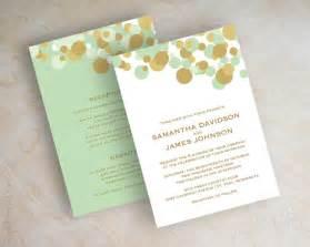 mint and gold wedding invitations mint green and gold polka dot wedding invitations by