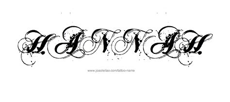 hannah tattoo designs name designs