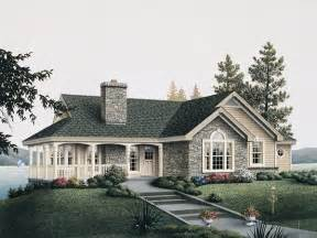 Cottage Style Porch For Ranch Homes by Summerview Atrium Cottage Home Plan 007d 0068 House