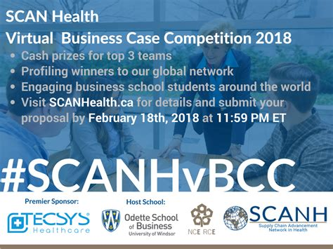Mba Competition 2018 by Upcoming Events Scan Health Business