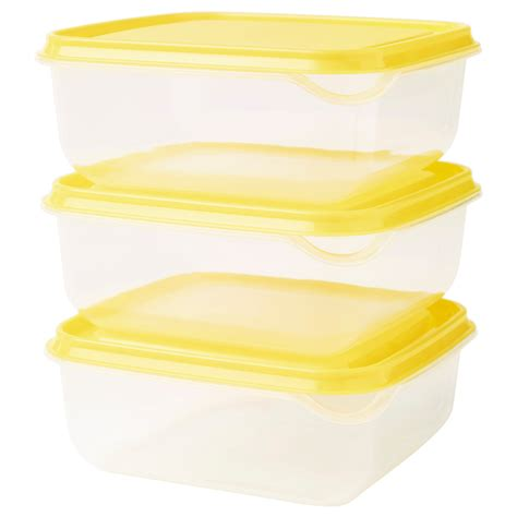 Ikea Pruta Food Container pruta food container transparent yellow 0 6 l ikea