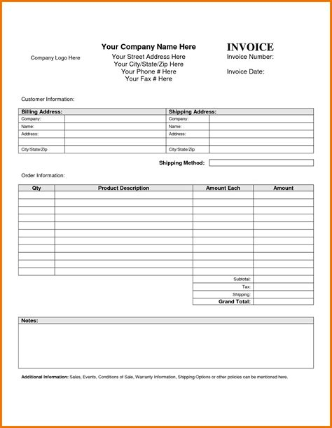 blank receipts template with logo blank invoice template blank invoice