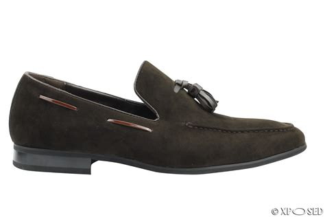 mens loafers size 12 new mens faux suede leather tassel loafers smart driving