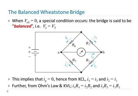 wheatstone bridge balanced condition principles of computer engineering lecture 4 the wheatstone bridge ppt