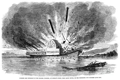 steamboat explosion steamboat accident 1859 photograph by granger