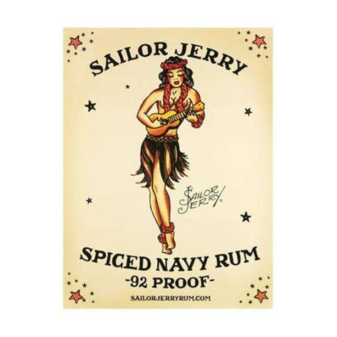 sailor jerry home decor sailor jerry hawaiian navy rum poster wall