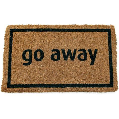 Go Away Doormats entryways go away black 17 in x 28 in non slip coir door mat p689 the home depot