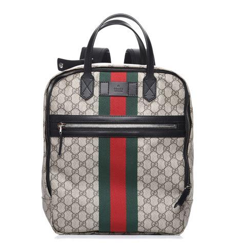 Backpack Guccl Gg Monogram 6317 gucci gg supreme web monogram backpack black 215170