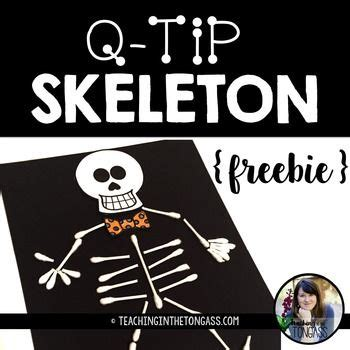 q tip skeleton craft template 25 best skeleton craft ideas on