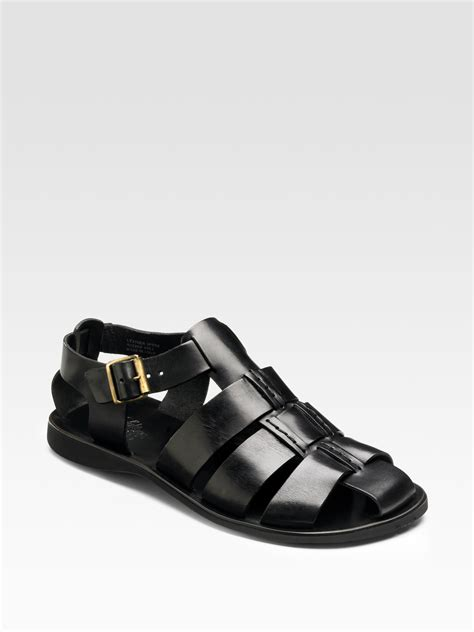 avenue shoes saks fifth avenue fisherman sandals in black for lyst