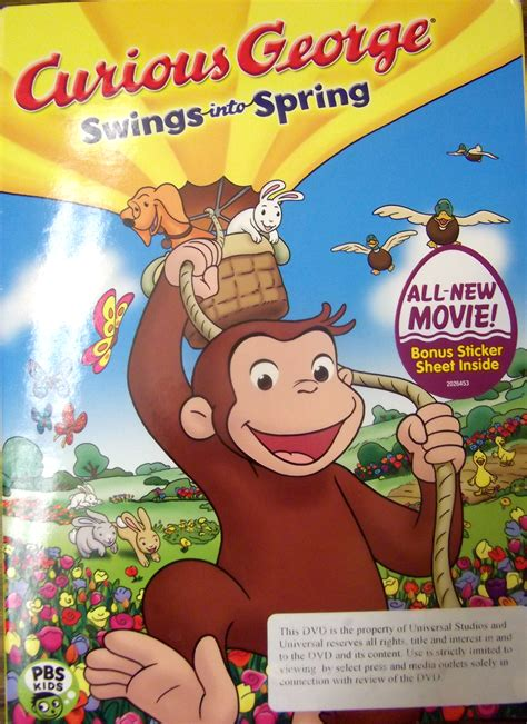 curious george swings curious george swings into spring dvd review and giveaway