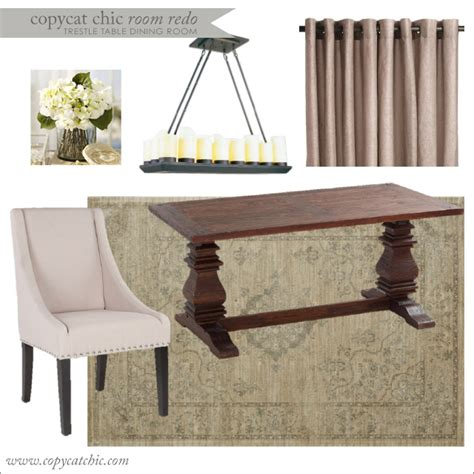 dining room trestle table copy cat chic copy cat chic room redo trestle table