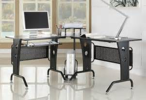 Modern Corner Desks For Home Office Black Corner Computer Desk New Home Office Furniture With L Shaped Modern Design Ebay
