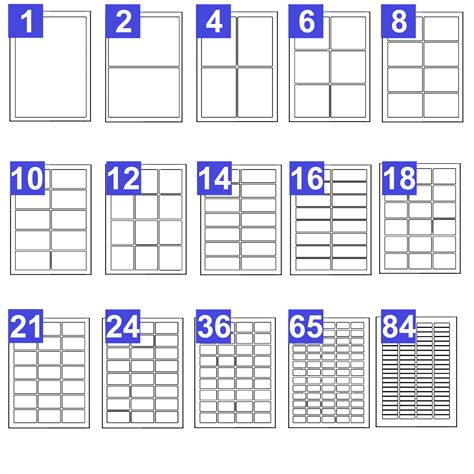 A4 Address Label Template