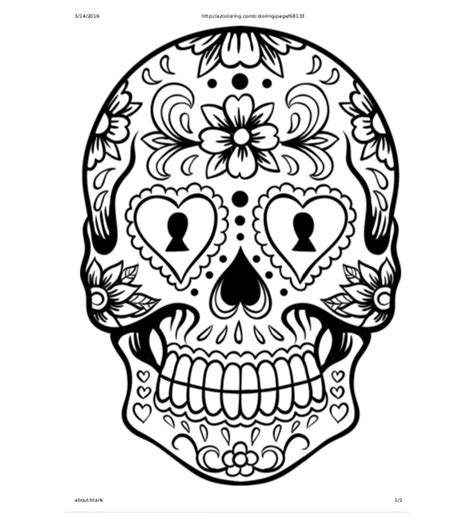 Sugar Skull Design Template skull drawing template 14 free pdf documents