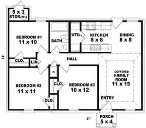 Housing Blueprints Floor Plans Ranch Style House Plan 3 Beds 1 Baths 912 Sq Ft Plan 81 671