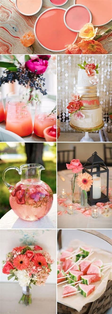 coral wedding colors best 25 coral wedding decorations ideas on