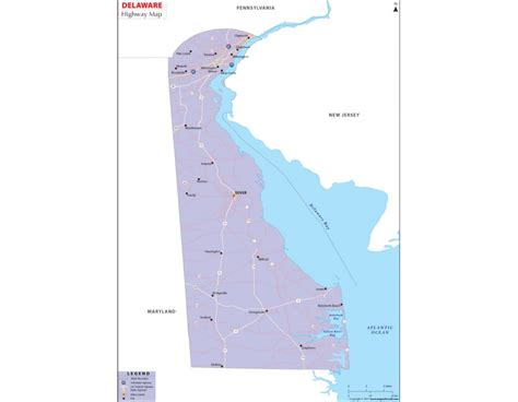printable road map of delaware buy delaware road map