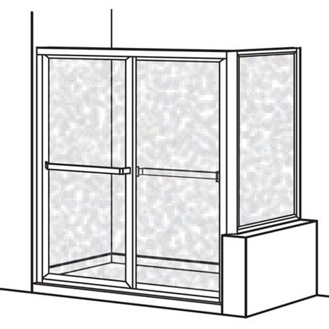 American Standard Am0732s 436 213 Hammered Glass Prestige Hammered Glass Shower Door