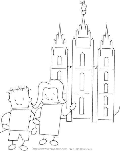 Mormon Share Kids At The Temple Coloring Page Salt Lake Temple Coloring Page