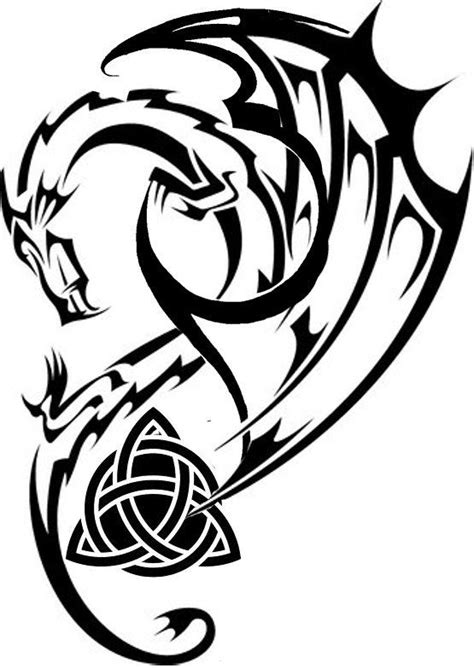 celtic tribal dragon tattoo 25 best ideas about celtic tattoos on