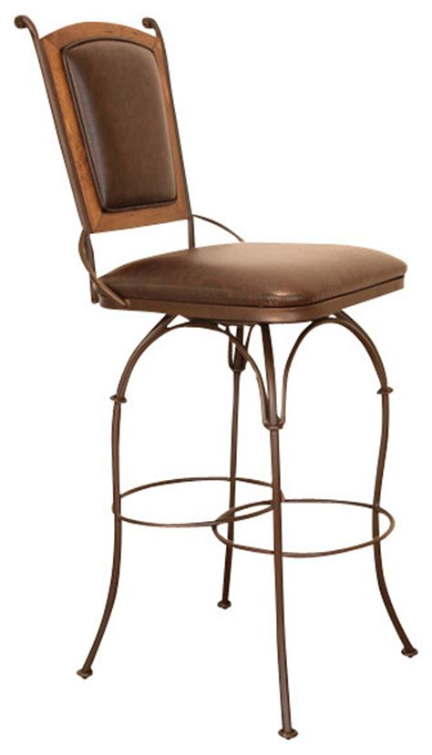 Artisan St 2 Stool by Artisan Home Swivel Armless Barstool With Bonded Leather