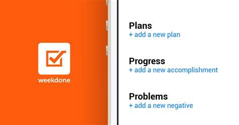 Progress Plans Problems Report Template
