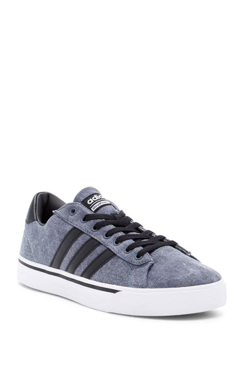 Adidas Cloudfoam Daily adidas originals cloudfoam daily sneaker in black for lyst