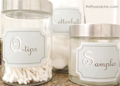 printable storage jar labels thrifty and chic diy projects and home decor