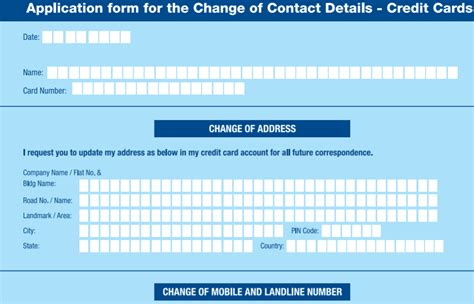 hdfc bank change of address how change address in hdfc credit card