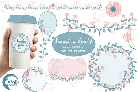 Clipart Wedding Embellishments by Floral Embellishments Bridal Shower Clipart Wedding