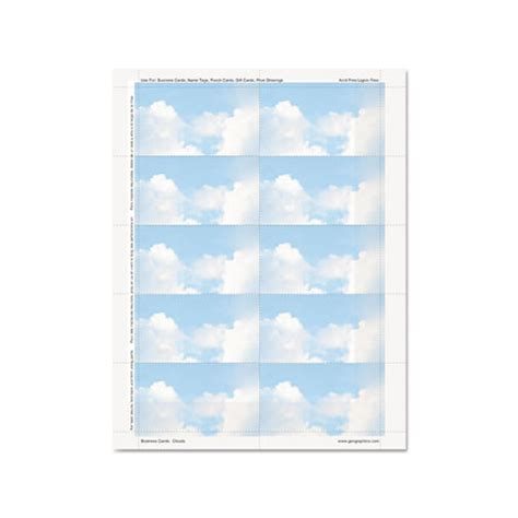 geographics clouds design business suite cards geo47372s