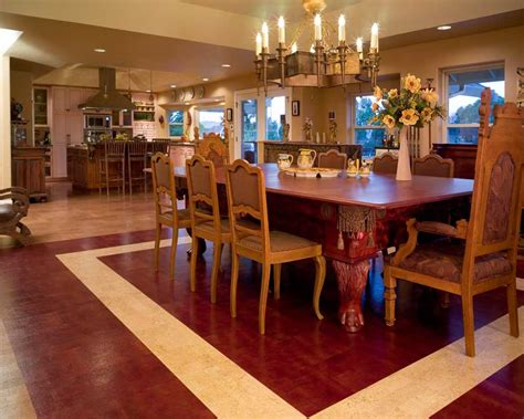 dining room flooring options cork flooring installation photos chimsky residence
